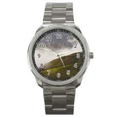 Agriculture Clouds Cropland Sport Metal Watch