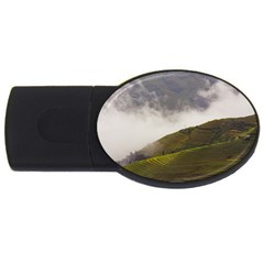 Agriculture Clouds Cropland Usb Flash Drive Oval (4 Gb)