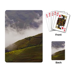 Agriculture Clouds Cropland Playing Card