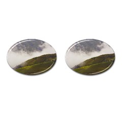 Agriculture Clouds Cropland Cufflinks (oval)
