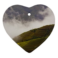 Agriculture Clouds Cropland Heart Ornament (two Sides)