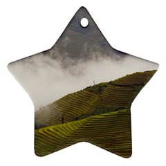 Agriculture Clouds Cropland Star Ornament (two Sides)