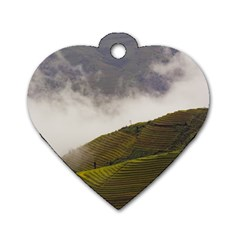 Agriculture Clouds Cropland Dog Tag Heart (two Sides)