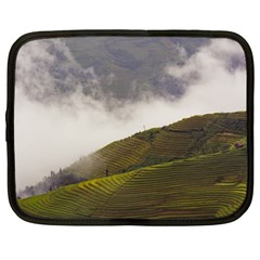 Agriculture Clouds Cropland Netbook Case (large)