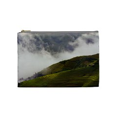 Agriculture Clouds Cropland Cosmetic Bag (medium)