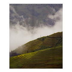 Agriculture Clouds Cropland Shower Curtain 60  X 72  (medium)
