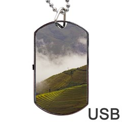 Agriculture Clouds Cropland Dog Tag Usb Flash (one Side)