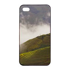 Agriculture Clouds Cropland Apple Iphone 4/4s Seamless Case (black)