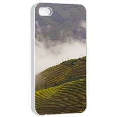 Agriculture Clouds Cropland Apple Iphone 4/4s Seamless Case (white)
