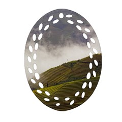 Agriculture Clouds Cropland Oval Filigree Ornament (two Sides)