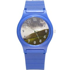 Agriculture Clouds Cropland Round Plastic Sport Watch (s)