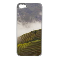 Agriculture Clouds Cropland Apple Iphone 5 Case (silver)