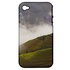 Agriculture Clouds Cropland Apple Iphone 4/4s Hardshell Case (pc+silicone)