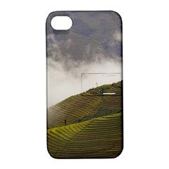 Agriculture Clouds Cropland Apple Iphone 4/4s Hardshell Case With Stand