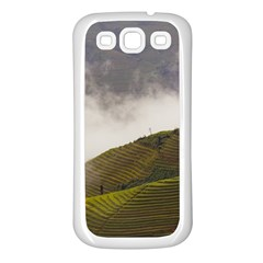 Agriculture Clouds Cropland Samsung Galaxy S3 Back Case (white)