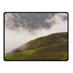 Agriculture Clouds Cropland Double Sided Fleece Blanket (small)