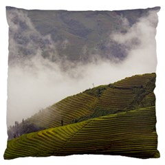 Agriculture Clouds Cropland Standard Flano Cushion Case (two Sides)