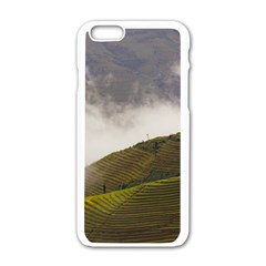Agriculture Clouds Cropland Apple Iphone 6/6s White Enamel Case