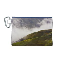 Agriculture Clouds Cropland Canvas Cosmetic Bag (m)