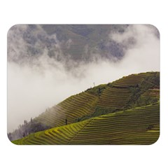 Agriculture Clouds Cropland Double Sided Flano Blanket (large)