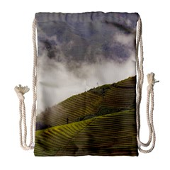 Agriculture Clouds Cropland Drawstring Bag (large)