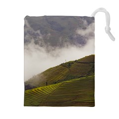 Agriculture Clouds Cropland Drawstring Pouches (extra Large)