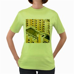 Apartments Architecture Building Women s Green T Shirt
