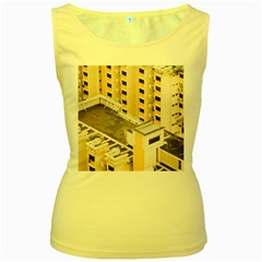Apartments Architecture Building Women s Yellow Tank Top