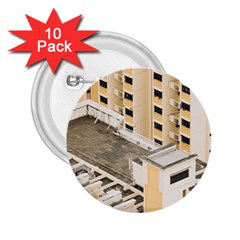 Apartments Architecture Building 2 25  Buttons (10 Pack)