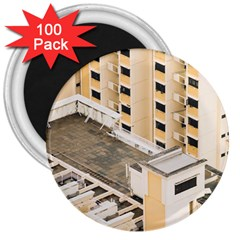 Apartments Architecture Building 3  Magnets (100 Pack)
