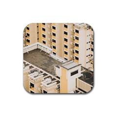 Apartments Architecture Building Rubber Square Coaster (4 Pack)
