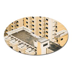 Apartments Architecture Building Oval Magnet
