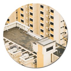 Apartments Architecture Building Magnet 5  (round)