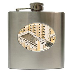 Apartments Architecture Building Hip Flask (6 Oz)