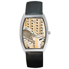 Apartments Architecture Building Barrel Style Metal Watch
