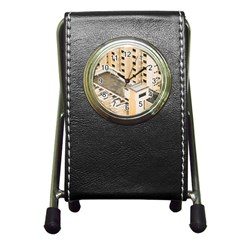 Apartments Architecture Building Pen Holder Desk Clocks