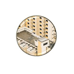 Apartments Architecture Building Hat Clip Ball Marker (4 Pack)