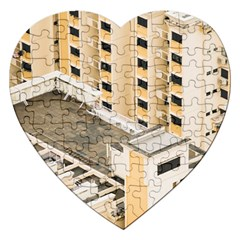 Apartments Architecture Building Jigsaw Puzzle (heart)