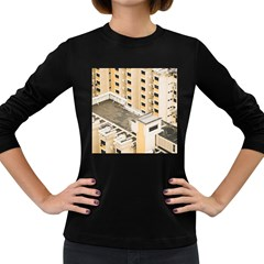 Apartments Architecture Building Women s Long Sleeve Dark T Shirts