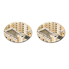 Apartments Architecture Building Cufflinks (oval)