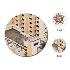 Apartments Architecture Building Playing Cards (round)