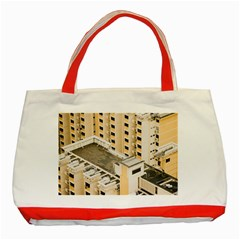 Apartments Architecture Building Classic Tote Bag (red)