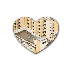 Apartments Architecture Building Heart Coaster (4 Pack)