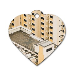 Apartments Architecture Building Dog Tag Heart (two Sides)