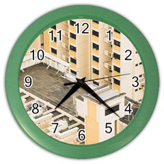 Apartments Architecture Building Color Wall Clocks