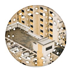 Apartments Architecture Building Round Filigree Ornament (two Sides)