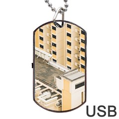 Apartments Architecture Building Dog Tag Usb Flash (one Side)
