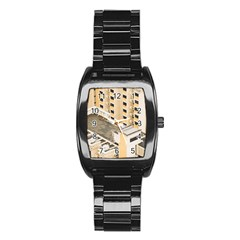 Apartments Architecture Building Stainless Steel Barrel Watch