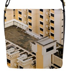 Apartments Architecture Building Flap Messenger Bag (s)