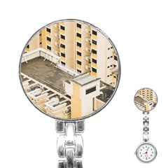 Apartments Architecture Building Stainless Steel Nurses Watch